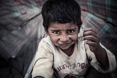 Nepali child in Kathmandu