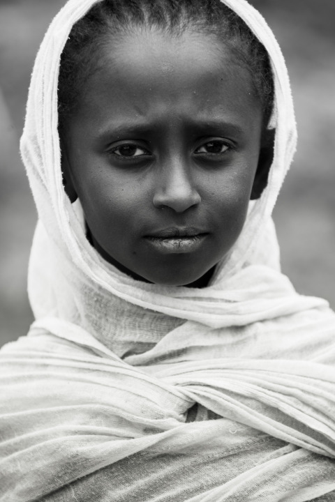 Ethiopian girl in Addis Ababa