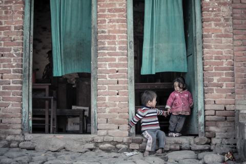 Children in Kathmandu Nepal