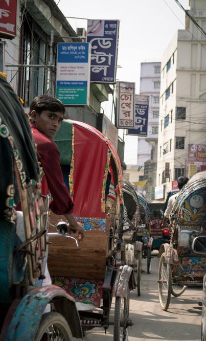rikshaw man in Dhaka Bangladesh