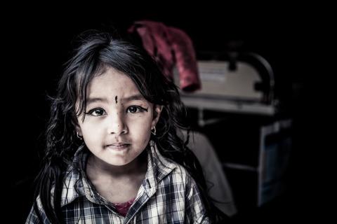 Portrait of Nepali girl in Kathmandu