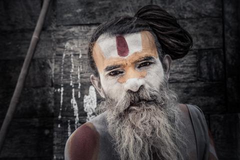 Nepali man portrait in Kathmandu